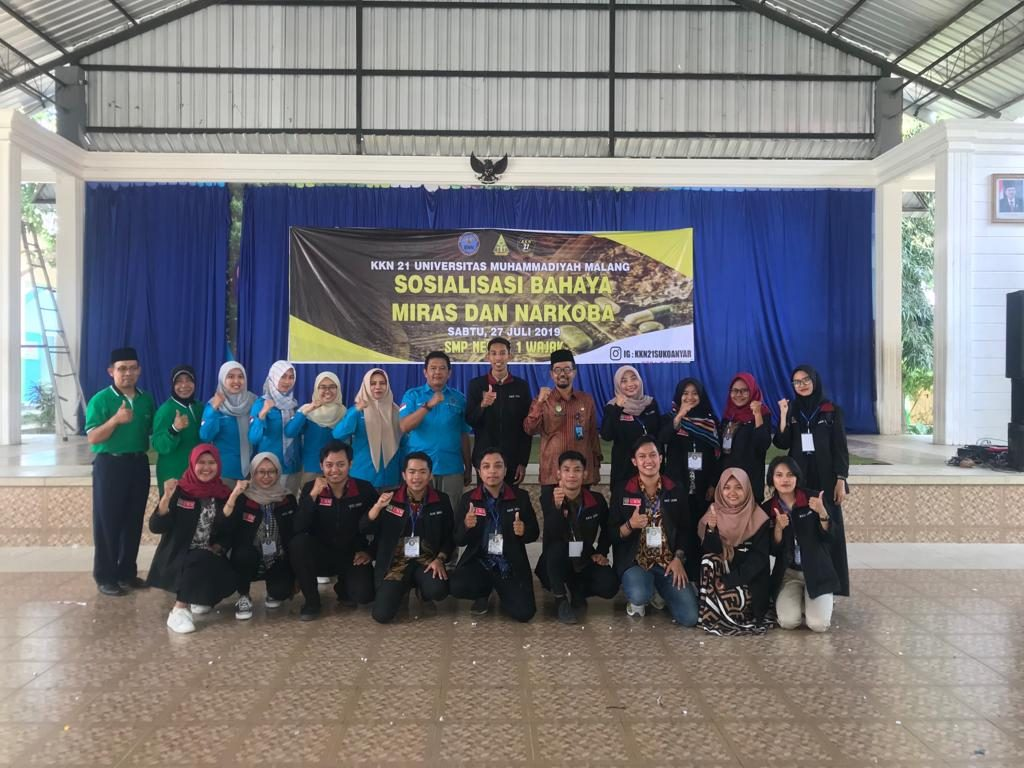 Ratusan Siswa SMPN 1 Wajak-KKN 21 UMM Siap Menyongsong Indonesia Emas Tanpa Narkoba 2