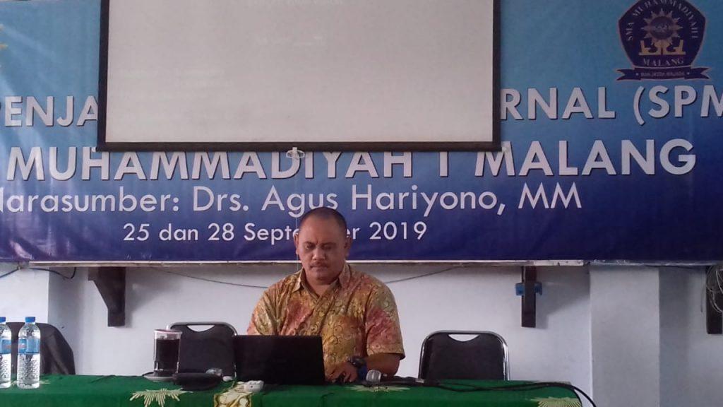 Lanjutkan Workshop SPMI Tahap 2, Indikator Mutu SMA Muhammadiyah 1 Kota Malang Siap Unggul 1