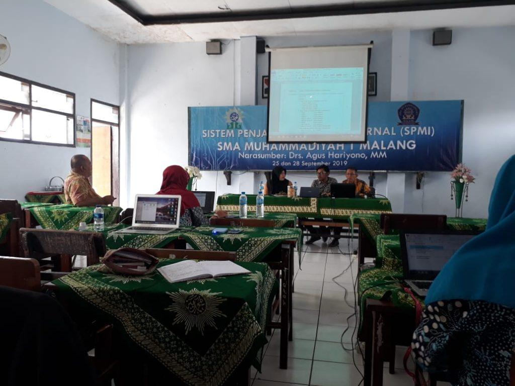 Lanjutkan Workshop SPMI Tahap 2, Indikator Mutu SMA Muhammadiyah 1 Kota Malang Siap Unggul 2