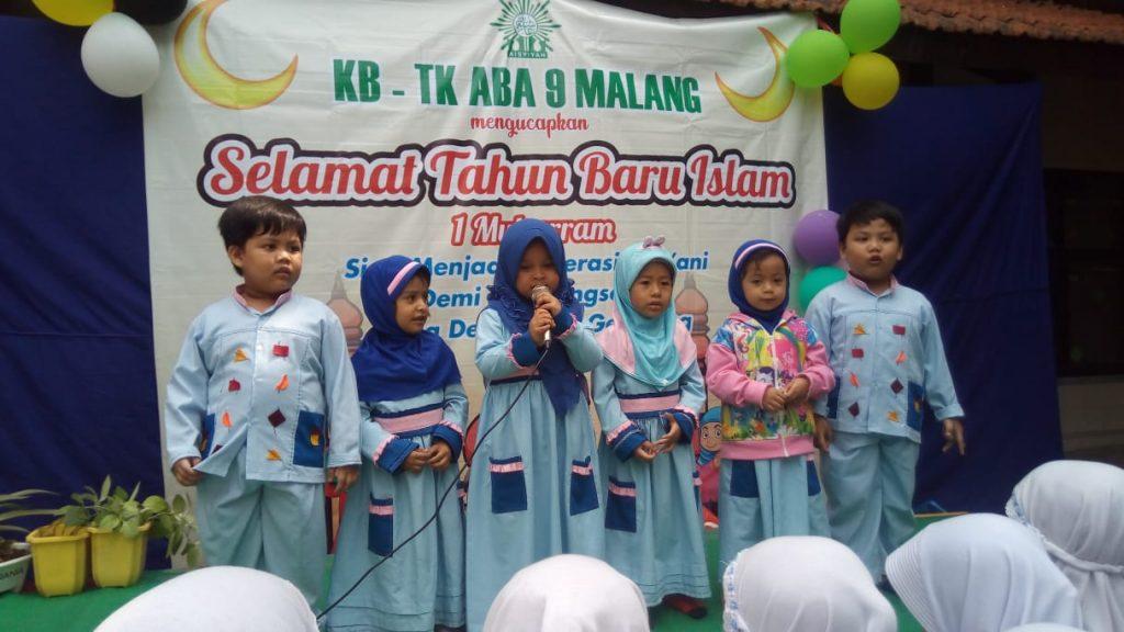 Kirab Muharram KB-TK ABA 09 Kota Malang, Ajak Siswa Syiar Pentingnya Tahun Baru Islam 1