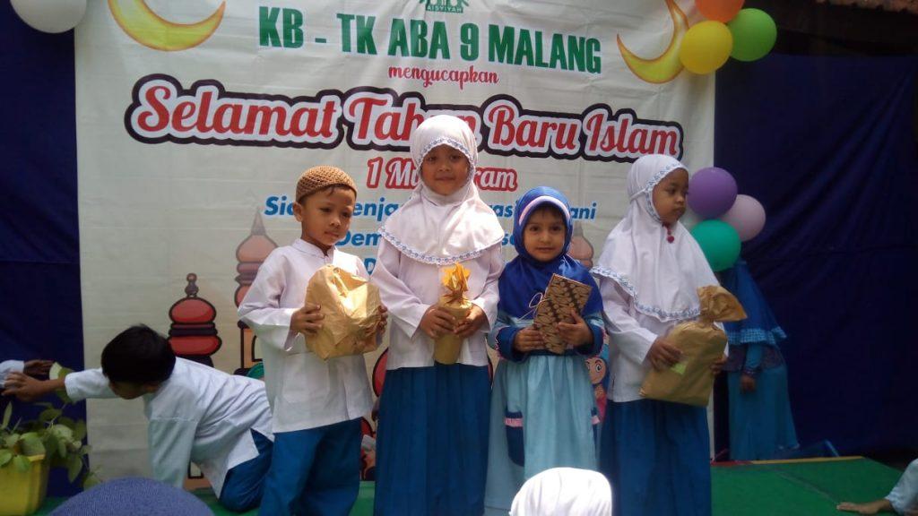 Kirab Muharram KB-TK ABA 09 Kota Malang, Ajak Siswa Syiar Pentingnya Tahun Baru Islam 2