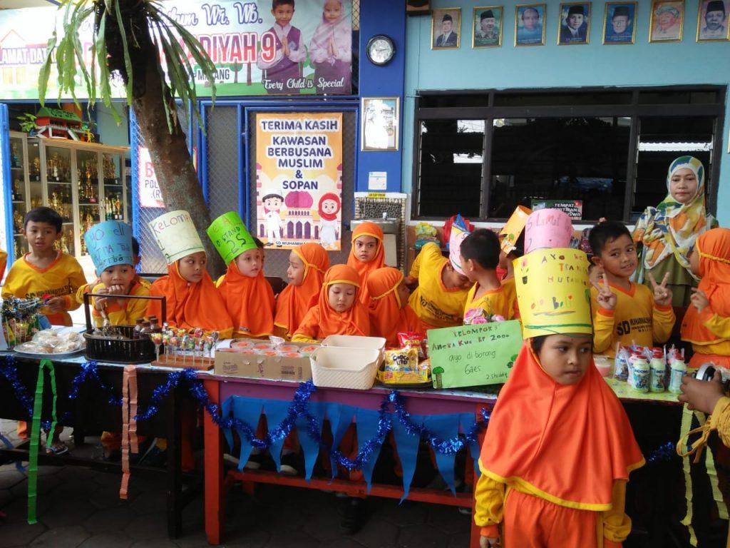 Latihan Mengenal Mata Uang, Siswa Kelas 2 SD Muhammadiyah 9 Kota Malang, Menggelar Praktek Pasar Kelas 1