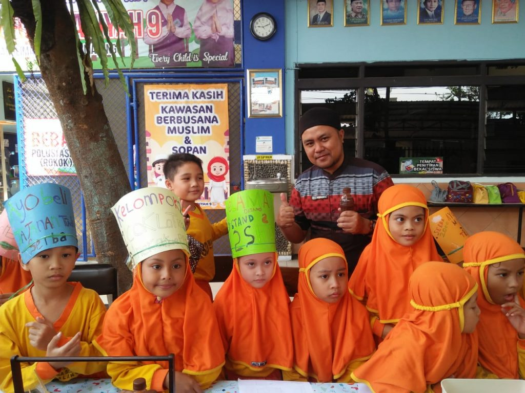 Latihan Mengenal Mata Uang, Siswa Kelas 2 SD Muhammadiyah 9 Kota Malang, Menggelar Praktek Pasar Kelas 2