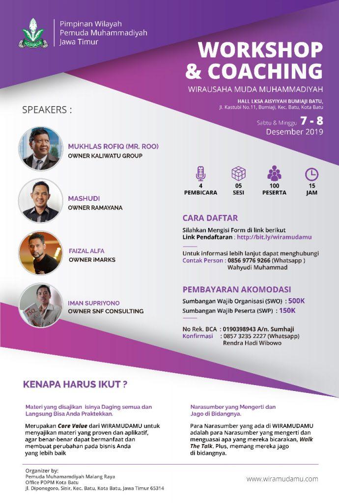 Pemuda Muhammadiyah Malangraya-PWPM Jatim Gelar Workshop Coaching Wirausaha 15 Jam 2