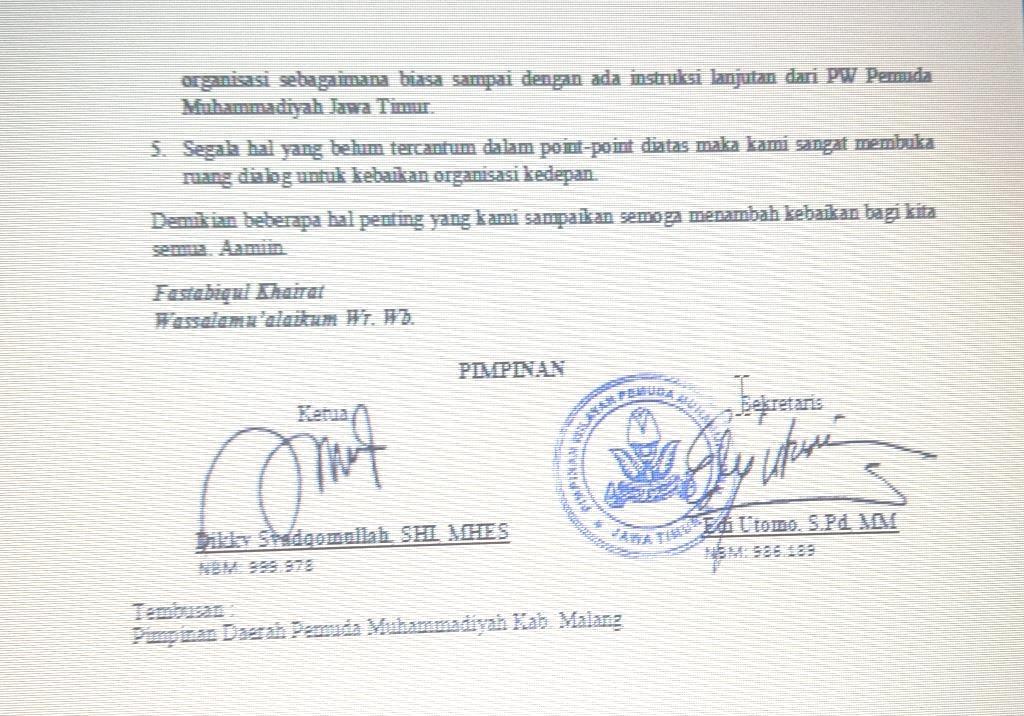 Diguncang Musdalub, PDPM Kabupaten Malang Tetap Sah Hingga 2022 2