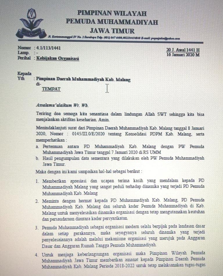 Diguncang Musdalub, PDPM Kabupaten Malang Tetap Sah Hingga 2022 1