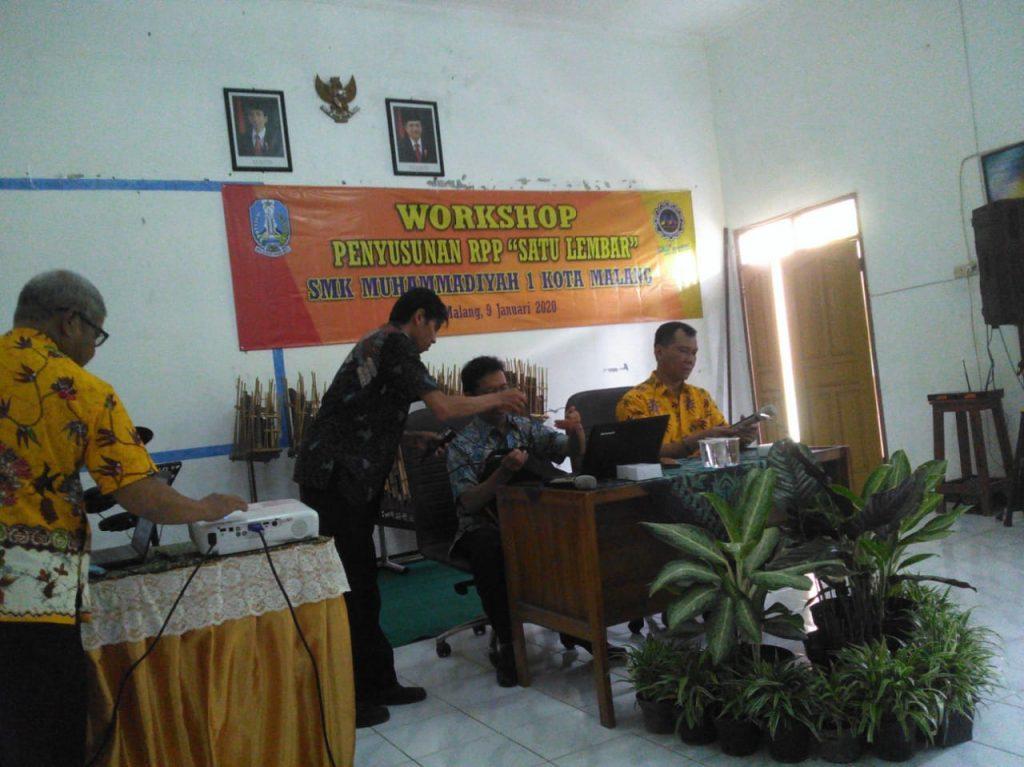 SMK Muhammadiyah 1 Kota Malang, Gelar Workshop RPP Satu Lembar 1