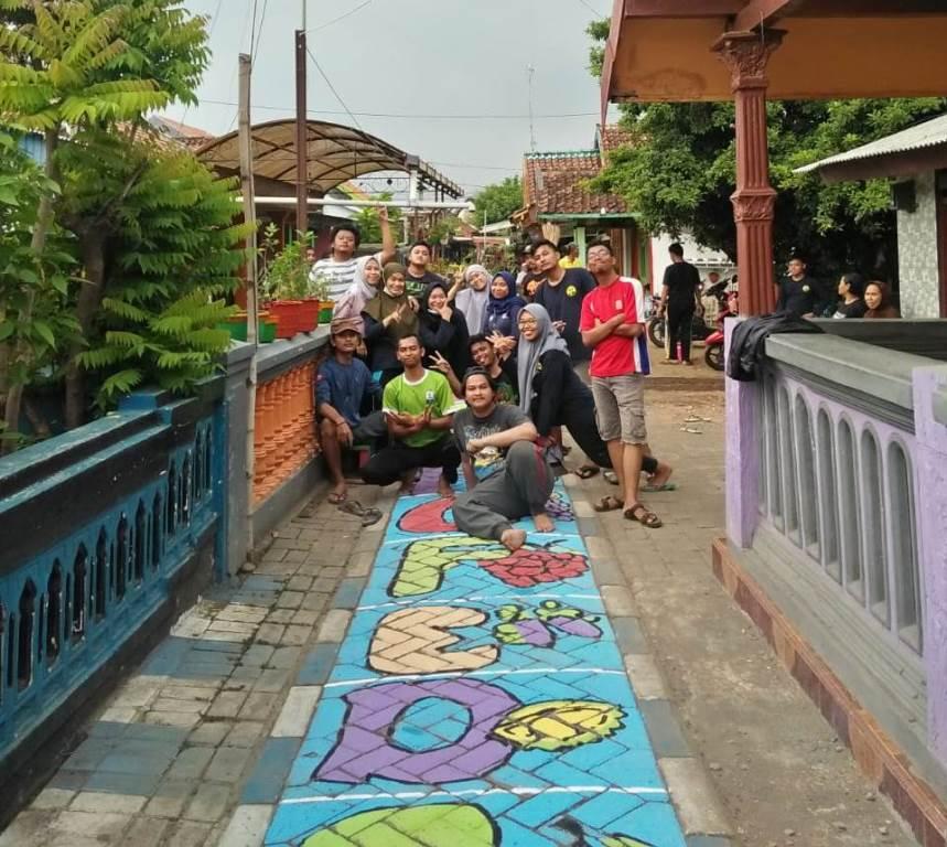 Kampung Bunga-Edukasi Garapan KKN 34 UMM Mulai Tampak Indah Bernilai Seni 1