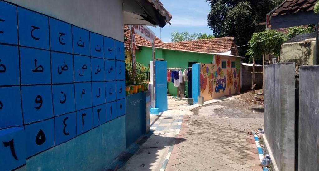Kampung Bunga-Edukasi Garapan KKN 34 UMM Mulai Tampak Indah Bernilai Seni 2