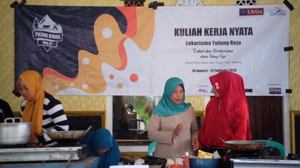 Jelang Malam Puncak Kampung Budaya, KKN 24 UMM Gelar Lomba Memasak Potensi Desa 1