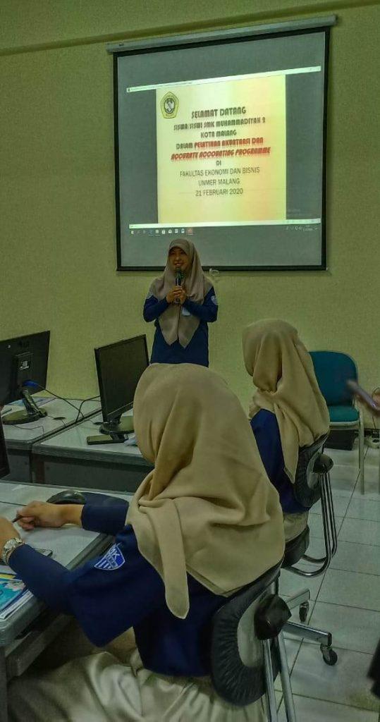 Jurusan Akuntasi SMK Muda Studi Tiru Program Accurate Unmer Malang 2