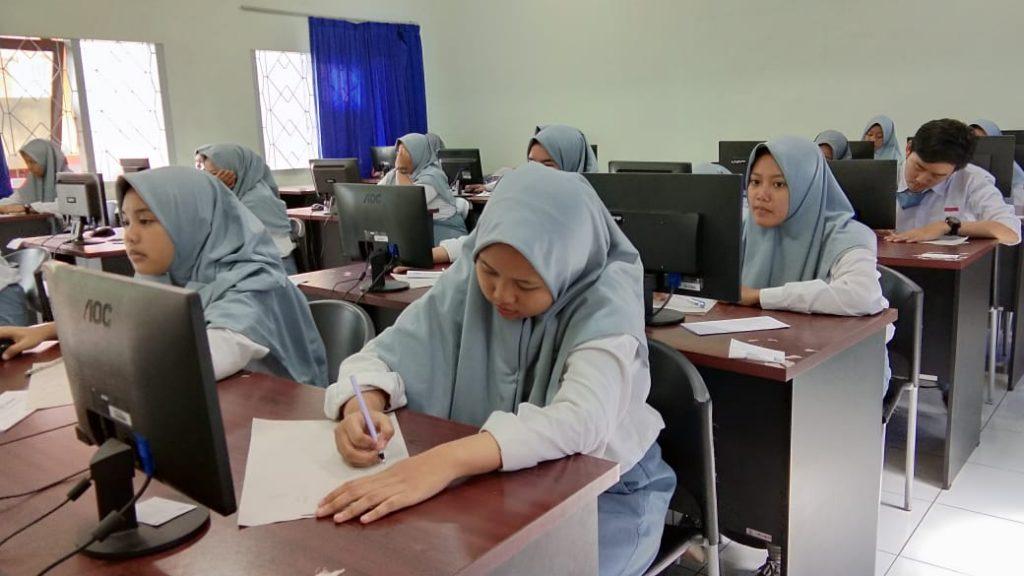SMK Muda Gelar Try Out UNBK, Agar Siswa Lancar Mengisi Soal 1