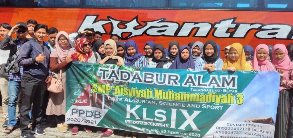 Sebelum Ujian SMP Aisyiyah Muhammadiyah 3 Kota Malang Ajak Siswanya Rihlah Tadabur Alam 1