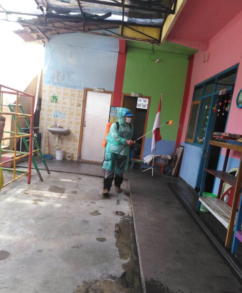 Foging Desinfektan TK ABA 1 Kota Malang, Ingin Sekolah Bebas Kuman Bakteri 1