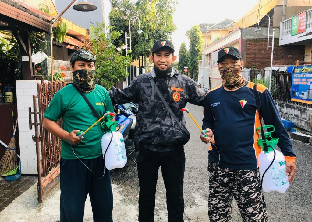 Diawali Wilayah Blimbing Mulai Foging, Bertahap Desinfektan Masjid Binaan CMM Kota Malang 2