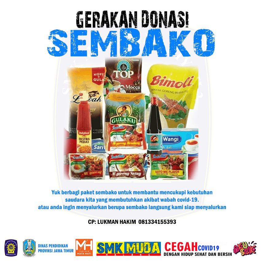 Dua Pejabat Diknas Dukung Program Donasi Sembako SMK Muda Kota Malang 1