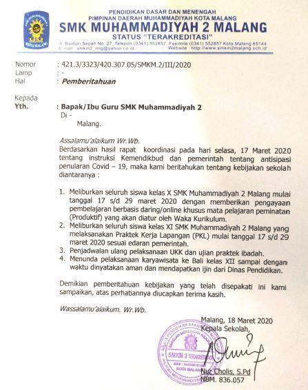 SMK Muda Keluarkan 4 Poin Keputusan, Siswa PKL Diliburkan Karyawisata Dijadwal Ulang 1