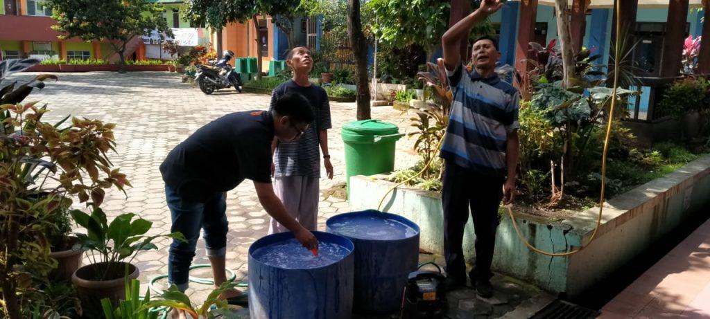 Cancut Tali Wondo, Perguruan Tlogomas Semprot Desinfektan Corona Lungo 1