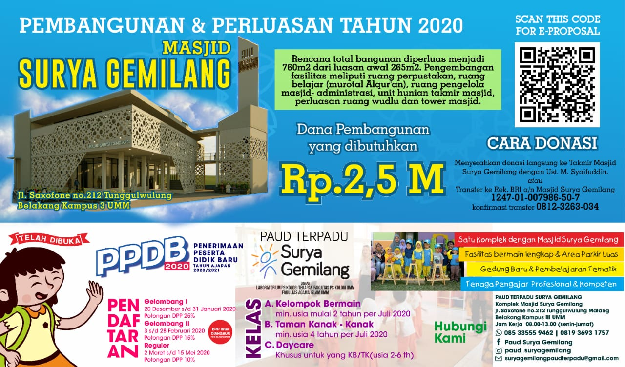 PPDB PAUD Surya Gemilang 2020