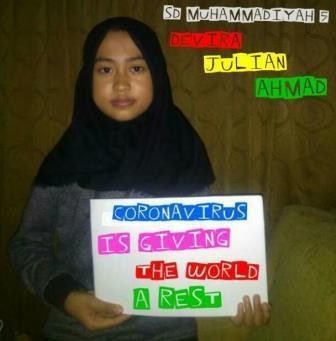 Siswa SD Muhammadiyah 5 Kota Malang Unjuk Prestasi Kampanye Lawan Corona, Kreatif-Solutif Idenya 2