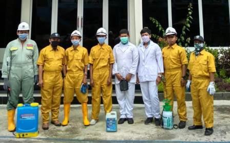 Desinfektan Buatan SMK Muhammadiyah 1 Kota Malang Bersihkan Bakteri-Kuman Perguruan Oro Oro Dowo 1