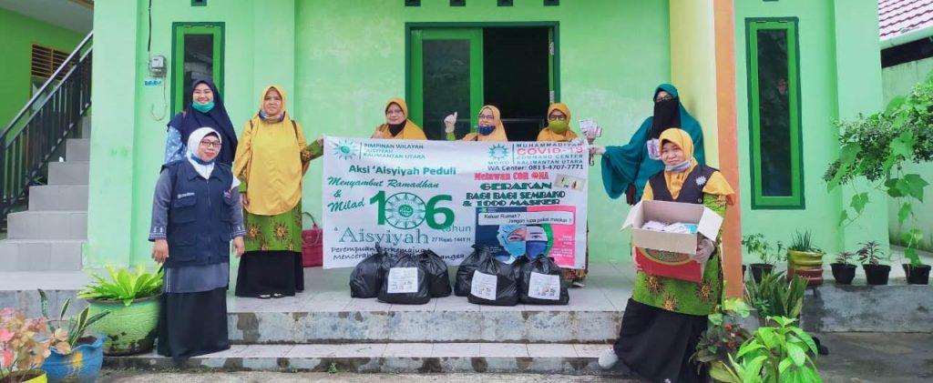 Sambut Ramadhan-Milad Aisyiyah, PWA Kaltara Bagi Sembako dan Seribu Lembar Masker 1