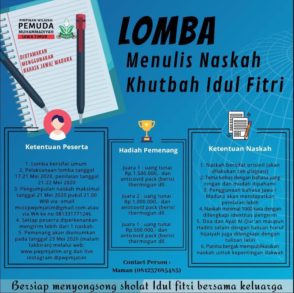 PWPM Jatim Gelar Lomba Menulis NKIF Bahasa Jawa-Madura