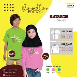 Pre Order kaosAPIK Ramadhan Edition <br>10 - 17 Mei 2020