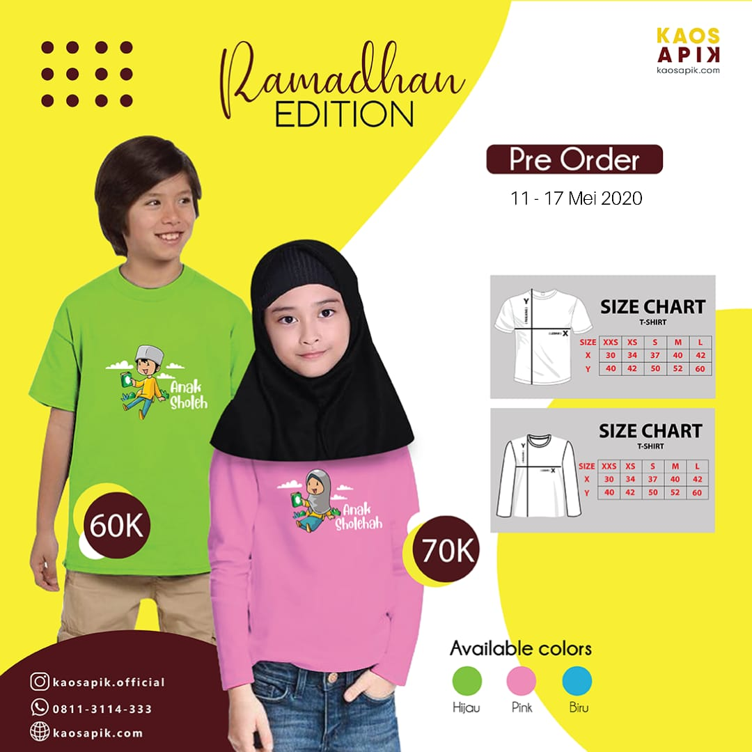 Pre Order Kaos APIK Ramadhan Edition