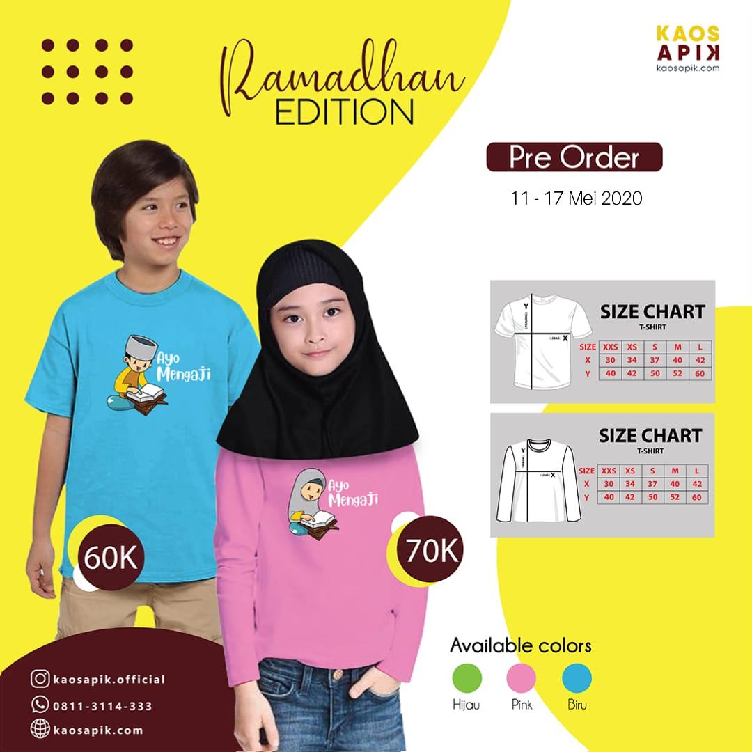 Pre Order kaosAPIK Ramadhan Edition <br> 10 - 17 Mei 2020