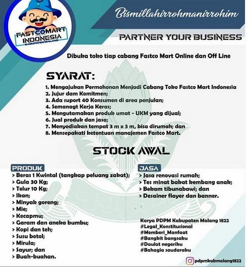 Sukses 7 Cabang Fastco Mart PDPM Kabupaten Malang Buka Mitra Bisnis 1