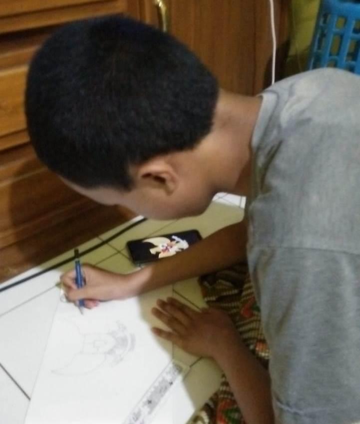 Satu Juni Hari Ini, Siswa Inklusi SMP Muda Kirim Gambar Pancasila 1