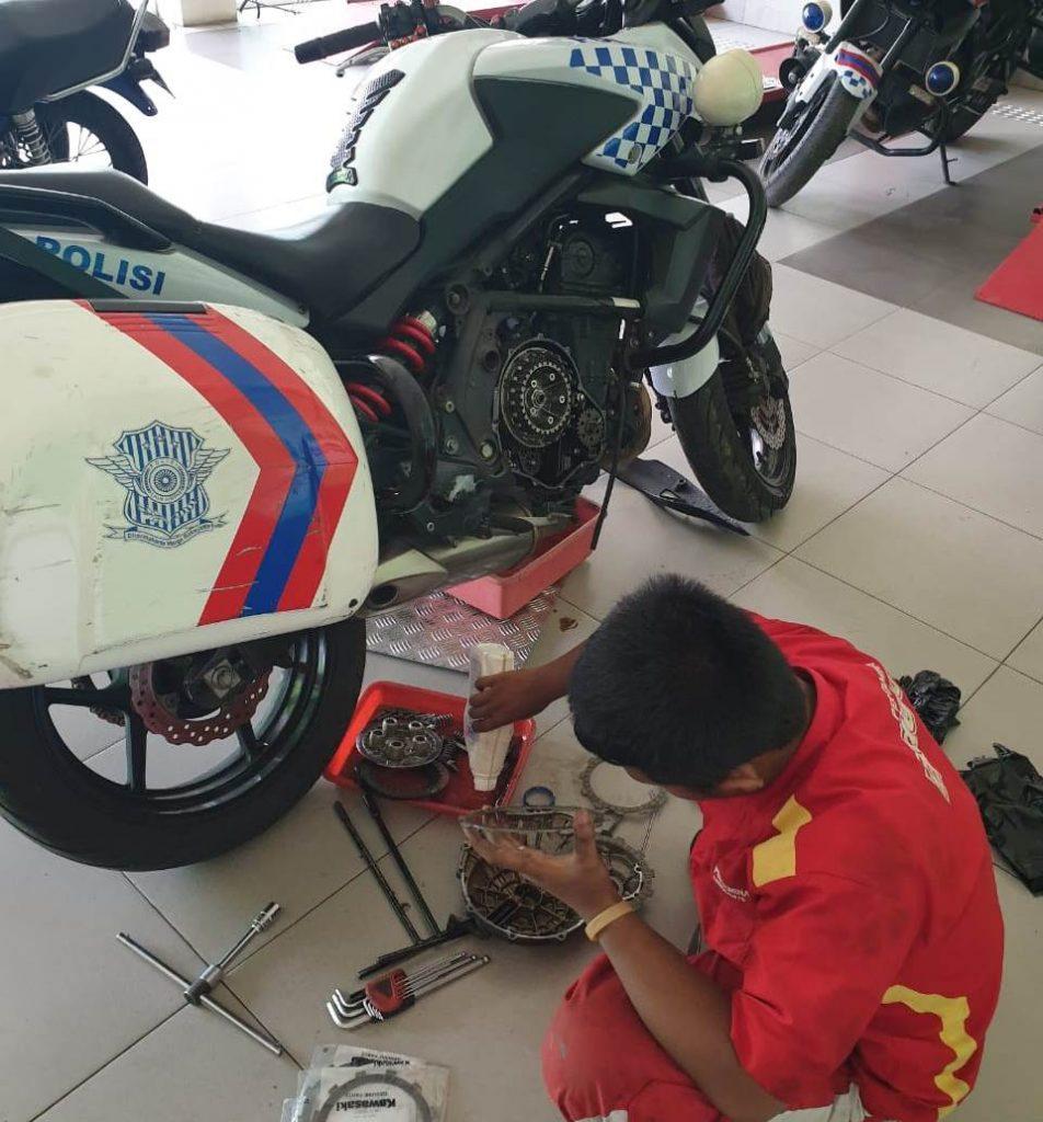 Siswa SMK Muhisa Ahlinya Moge Built-Up, Langganan Patwal Polresta Malang 1
