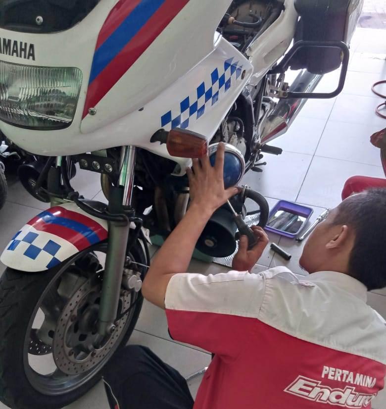 Siswa SMK Muhisa Ahlinya Moge Built-Up, Langganan Patwal Polresta Malang 2