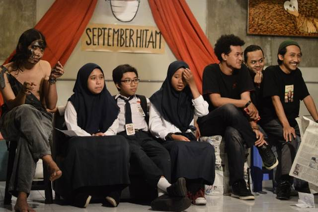 September Hitam Teater Komunitas SMP AM3 Angkat Isu HAM 1