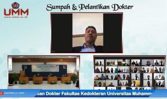 Sumpah 27 Dokter Baru FK UMM Meski Virtual Tetap Sakral 1