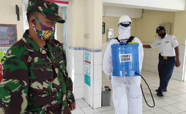 SMK Muhisa-Ajendam V Brawijaya Karya Bhakti Cegah Pandemi 1