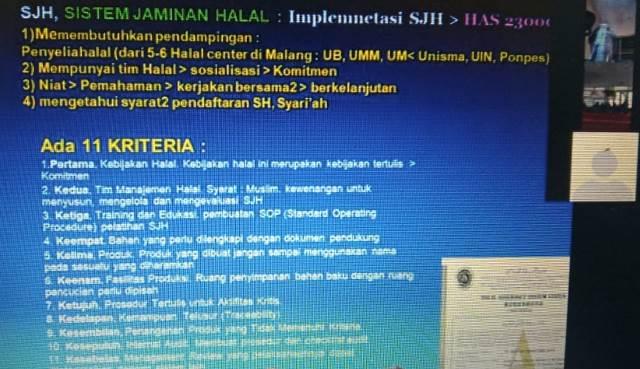 Ketua Halal Corner UMM Jelaskan Ikrar Halal Muhammadiyah-Sertifikat Halal Pada Puluhan UMKM Lawang 2