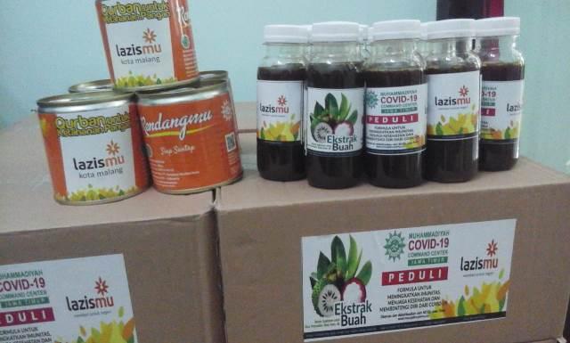 Lazismu Kota Malang Bantu Pasien Covid RendangMu-Probiotik 1