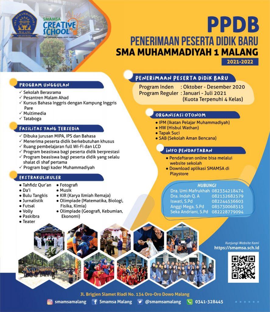 PPDB SMA Muhammadiyah 1 Malang 1