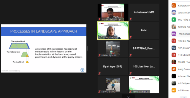 Undang FAO- BPPTPDAS Prodi Kehutanan UMM Bahas Landscape Approach 1