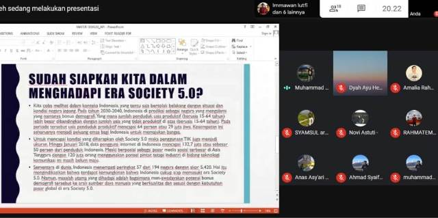 Daring Kamisan Bahas Era Society 5.0 Indonesia 2