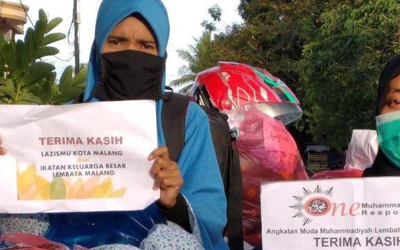 Dapat Uang-Rendangmu Korban Erupsi Ile Lewotok NTT, Puji Lazismu Kota Malang 2