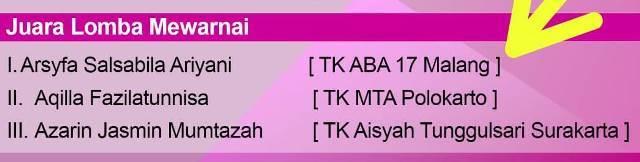 Arsyifa Siswa ABA 17 Kota Malang Juara Pertama Ajang AEF 1