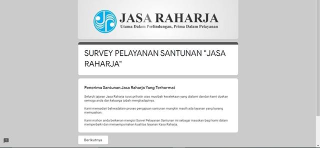 Penerapan Aplikasi Quisioner Digital Sebagai Evaluasi Pelayanan Karyawan Jasa Raharja Kota Malang 1