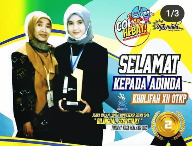 Tiga Siswa SMK Muda CoE Juara Kompetisi Kejuruan Kota Malang 2