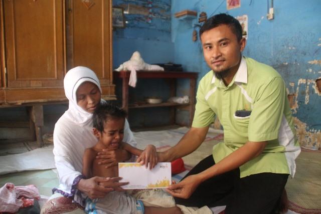 Lewat Lazismu Bireuen Aceh, Ayo Bantu Kautsar Kembali Sehat Bisa Berjalan 1