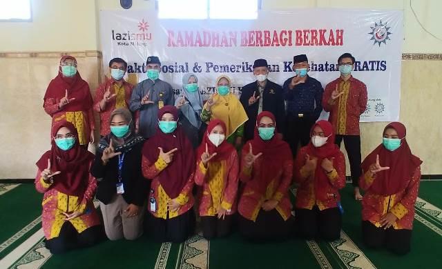 Lazismu Kota Malang-RS UMM Baksos Kesehatan Bagi Sembako Masjid Asy Syifa' 1