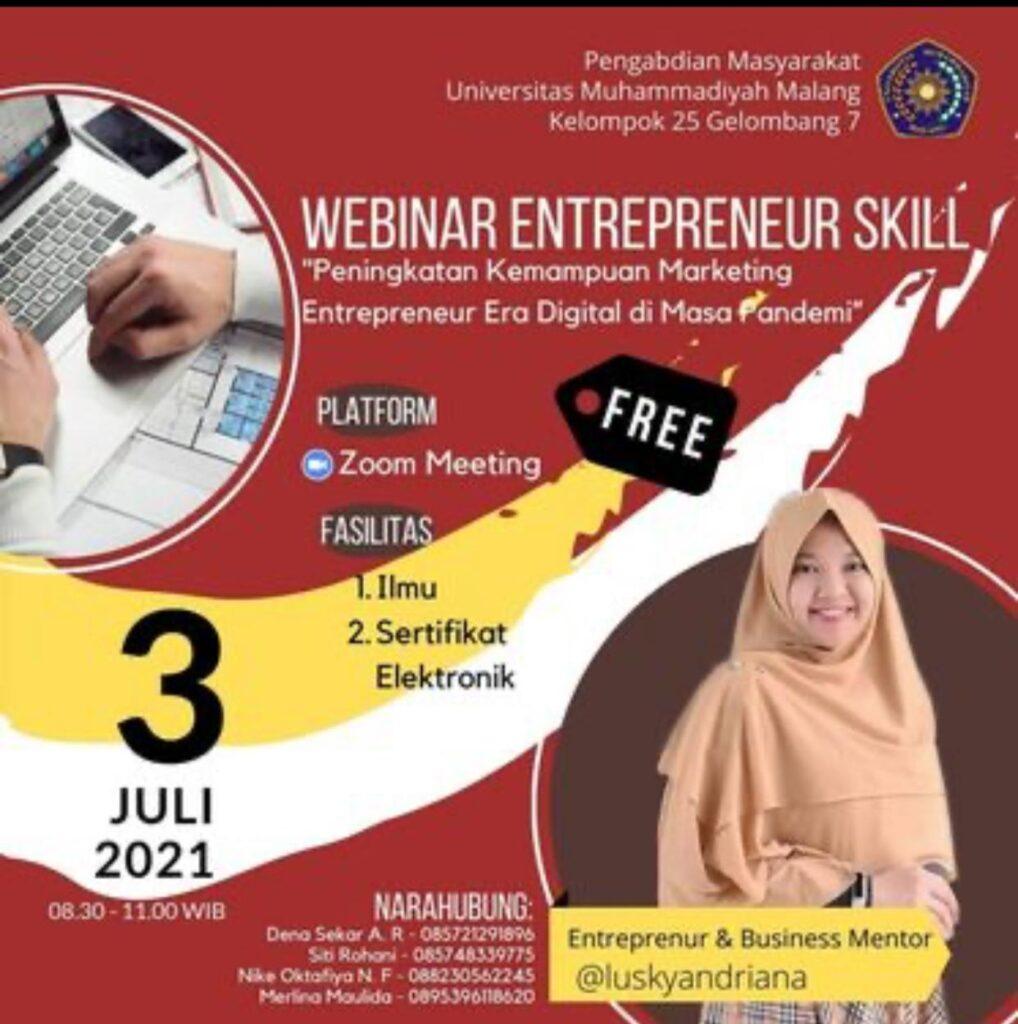Kreatif, PMM 25 UMM Sosialisasi Entrepreneur Skill Melalui Instagram 1