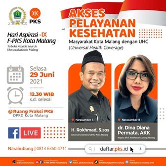 Hari Aspirasi FPKS DPRD Kota Malang, Layanan Kesehatan Tanpa Kesulitan Finansial 2
